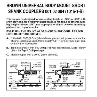 BROWN Universal BMC Short Shank  Assembled (1015-1B)