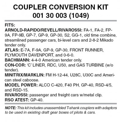 Locomotive Coupler Conversion Kit (1049)